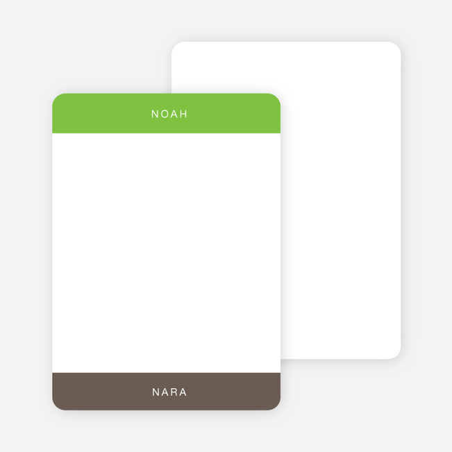 Note Cards: 'Twice Blessed' cards. - Apple Green