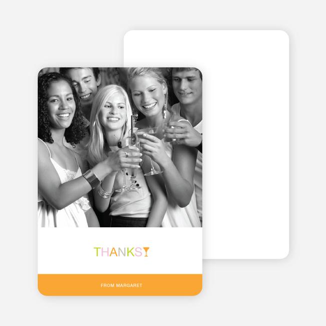 Notecards for the 'Margaritaville Awaits' cards. - Light Orange