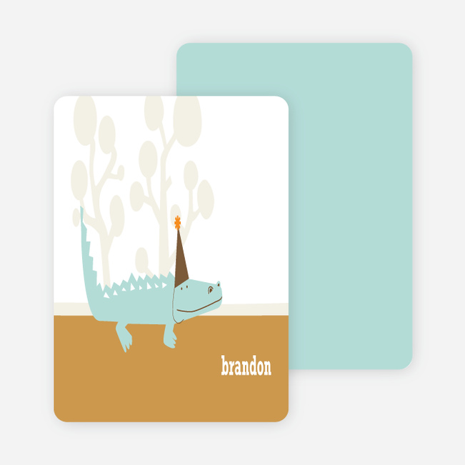 Notecards for the 'Zoo Birthday Party' cards. - Carrot Orange
