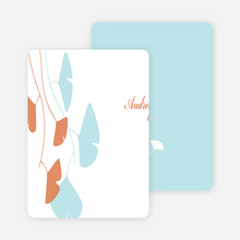 Personal Stationery for Bridal Shower Invitations: Leaves - Aqua