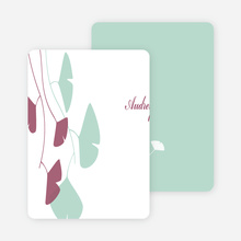 Personal Stationery for Bridal Shower Invitations: Leaves - Mint Green