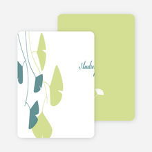 Personal Stationery for Bridal Shower Invitations: Leaves - Pistachio