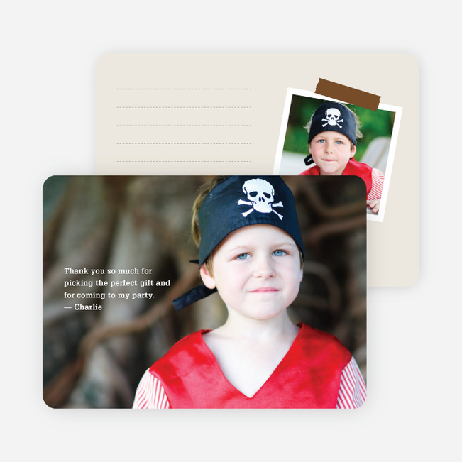 Photo Note Cards: Black Text - Black