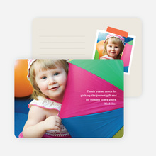 Photo Note Cards: White Text - White