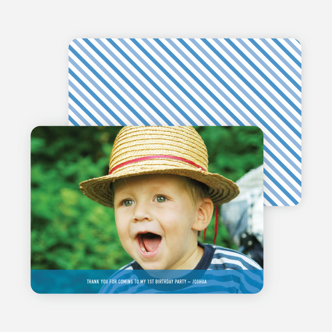 Photo Thank You Cards - Cadet Blue
