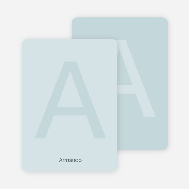 Simply Letters Personalized Note Cards - Glacier