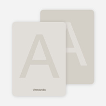 Simply Letters Personalized Note Cards - Sand