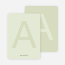 Simply Letters Personalized Note Cards - Celadon