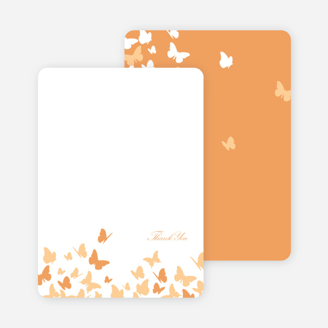 Stationery: 'Butterfly Joy Wedding Shower' cards. - Papaya