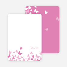 Stationery: 'Butterfly Joy Wedding Shower' cards. - Fuchsia
