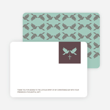 Stationery: 'Dove and the Holy Spirit Baptism' cards. - Pale Blue