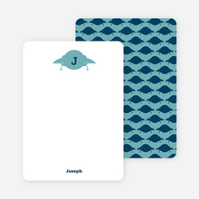 Stationery: 'Galaxy Spaceship' cards. - Peacock Blue