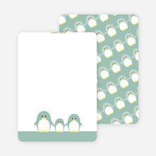 Stationery: 'Penguin Family' cards. - Celadon