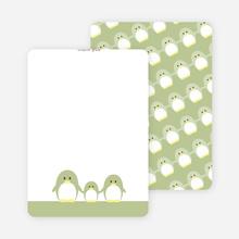 Stationery: 'Penguin Family' cards. - Bamboo