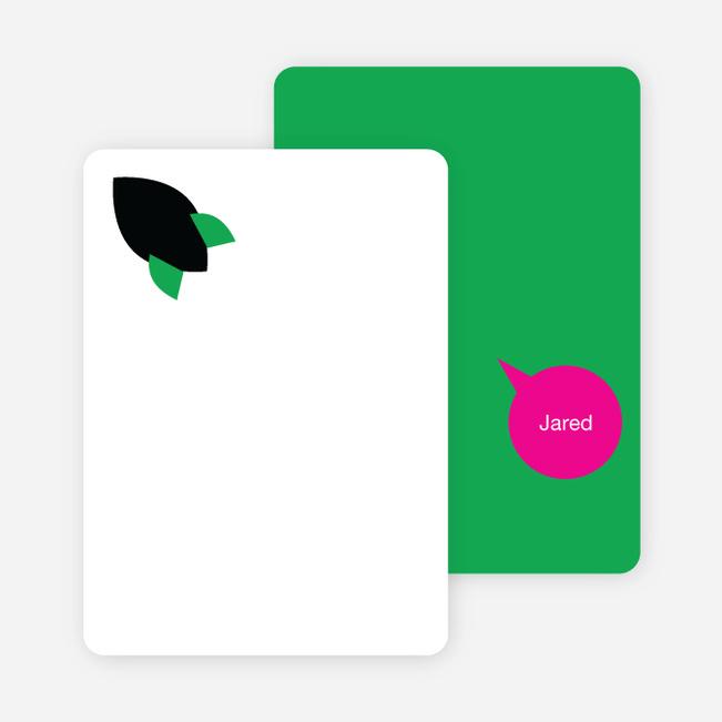 Stationery: 'Rocket Takeoff' cards. - Kelly Green