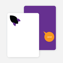 Stationery: 'Rocket Takeoff' cards. - Grape Purple
