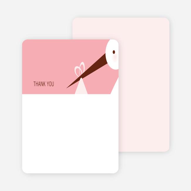 Stationery: 'Stork Baby Shower' cards. - Carnation