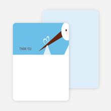 Stationery: 'Stork Baby Shower' cards. - Sky Blue