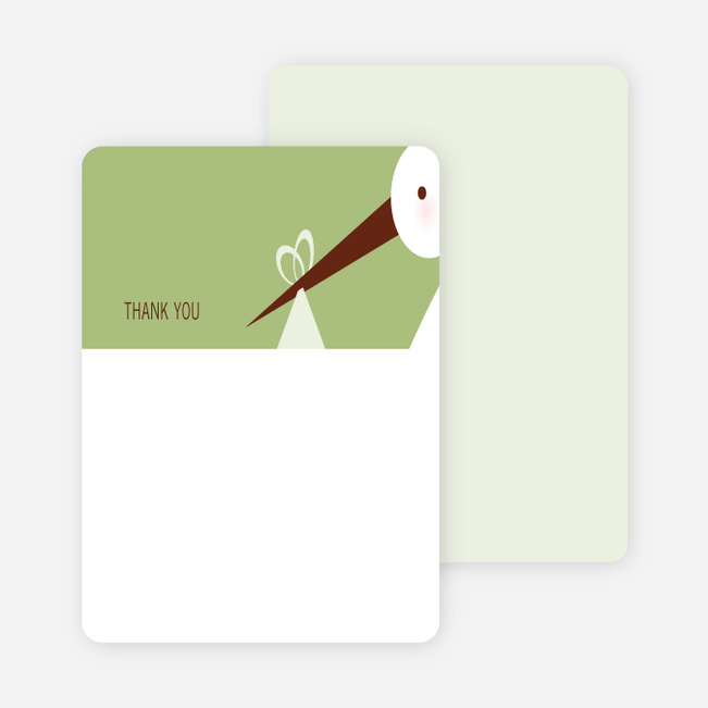 Stationery: 'Stork Baby Shower' cards. - Lemongrass