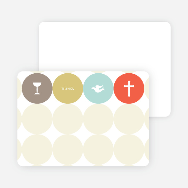 Stationery: 'Symbols of Communion' cards. - Tangerine