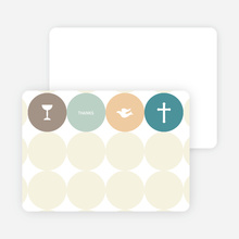 Stationery: 'Symbols of Communion' cards. - Teal