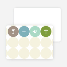 Stationery: 'Symbols of Communion' cards. - Lime Green