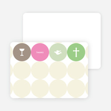 Stationery: 'Symbols of Communion' cards. - Hot Pink