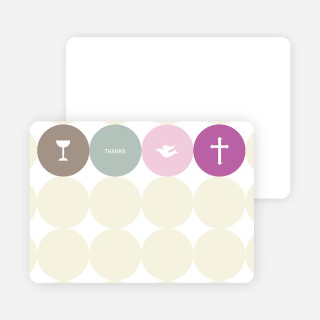 Stationery: 'Symbols of Communion' cards. - Purple