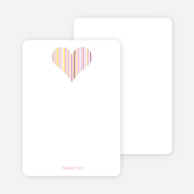 Stationery: 'True Love Bridal Shower' cards. - Fuchsia