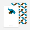 Thank You Card for Momma and Baby Elephant Baby Shower Invitation - Cadet Blue