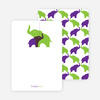 Thank You Card for Momma and Baby Elephant Baby Shower Invitation - Apple Green