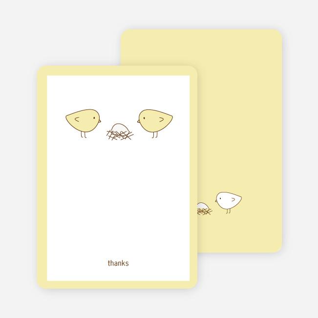 Thank You Card for Nesting Birds Baby Shower Invitation - Lemon Chiffoh