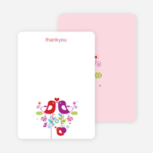 Thank You Card for True Love Baby Shower Invitation - Magenta