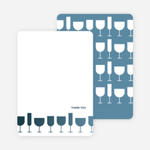 Thank You Card for Wine Toast Party Invitation - Cadet Blue