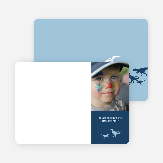 Ultimate Dinosaur Photo Stationery - Baby Blue