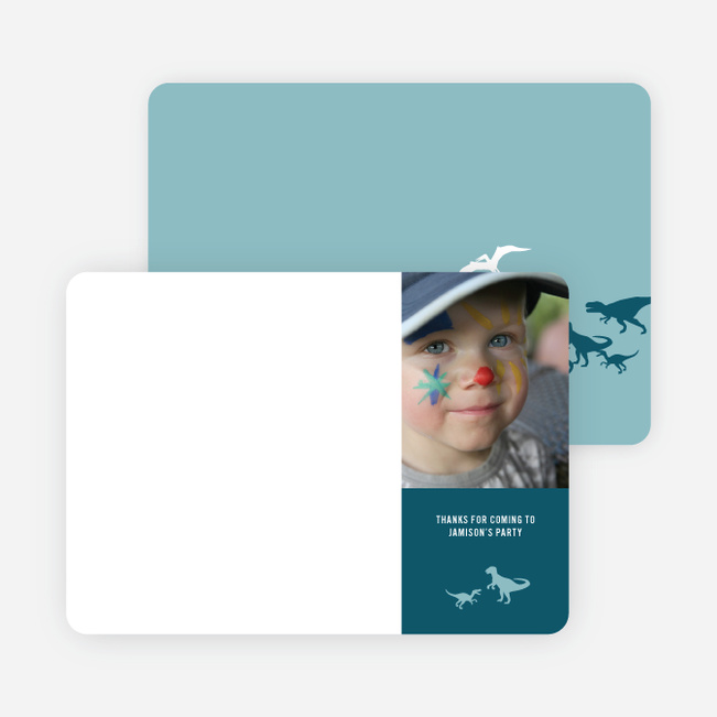 Ultimate Dinosaur Photo Stationery - Turquoise