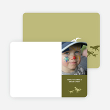 Ultimate Dinosaur Photo Stationery - Khaki