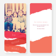 Brush with Love Valentine's Day Cards - Red