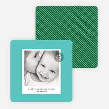 Cards to Put a Stamp on for Valentine's Day - Green