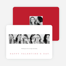 Classic Photo Valentine's Day Cards - Red