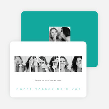 Classic Photo Valentine's Day Cards - Blue