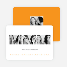 Classic Photo Valentine's Day Cards - Orange