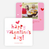 Colorful Happy Valentine's Day Cards - Red