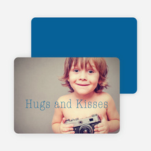 Hugs & Kisses Valentine's Day Cards - Blue