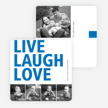 Live, Laugh & Love Valentine's Day Cards - Blue