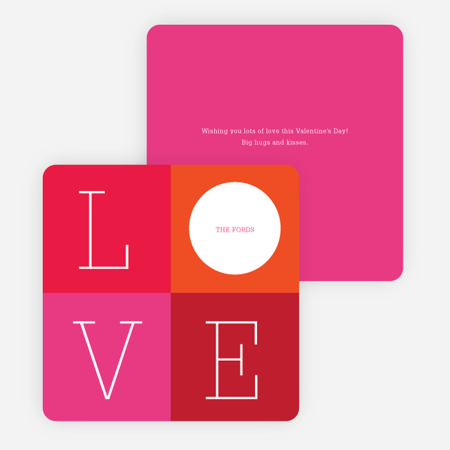 Love: A Four Letter Word? Valentine's Day Cards - Red
