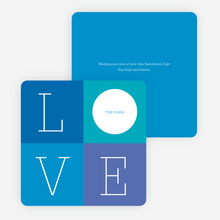 Love: A Four Letter Word? Valentine's Day Cards - Blue