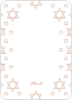 Star of David Border Note Cards - Front View