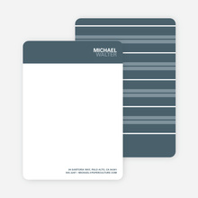 Bold Type Named Stationery - Cool Gray