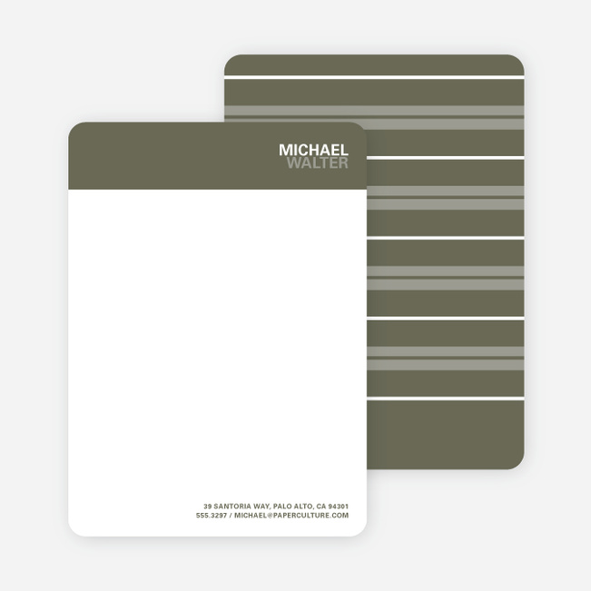 Bold Type Named Stationery - Taupe
